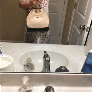 Chanel Gabrielle Small Beige Calfskin Backpack